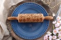 Mini rolling pin with herbal design