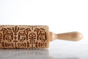 DALA HORSE - embossing rolling pin with scandinavian look