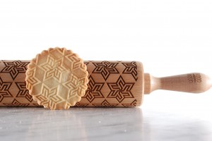 GEOMETRIC STAR  -  stylish embossing rolling pin