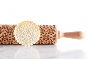 GEOMETRIC FLOWERS - embossing rolling pin, simple and sophisticated