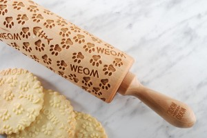 MEOW PAW -  embossing rolling pin, for crazy cat lady