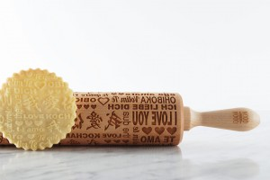 I LOVE YOU - embossing rolling pin, will make it easier to declare love in every language