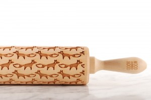 FOX - embossing rolling pin, beautiful simple design