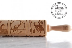 BIRDS THEME - nature inspired embossing rolling pin