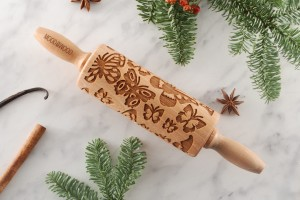 BUTTERFLIES  - MINI embossing rolling pin , good design for a good start