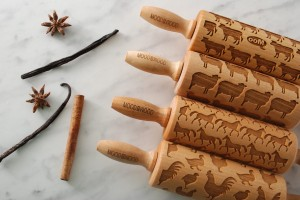 FARM ANIMALS - set of 4 MINI embossing rolling pins