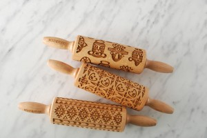 ETHNO COLLECTION - set of 3 MINI embossing rolling pins, world famous ethnic designs