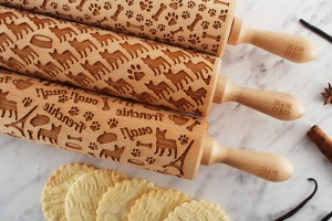 FRENCHIE - set of 3 embossing rolling pins
