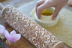 LACE - embossing rolling pin for cookies