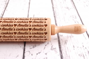 AMELIE'S COOKIES ... (horizontal pattern) - embossing rolling pin