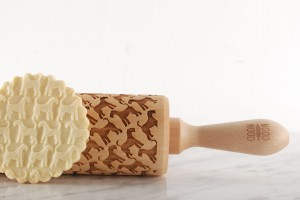 AIREDALE TERRIER - embossing rolling pin, for tasty dogs snacks