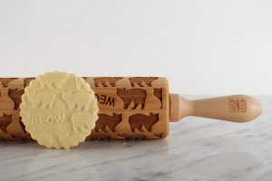 MANX - embossing rolling pin, cute cats design