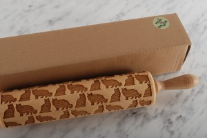 PERSIAN  - embossing rolling pin for a cat lover