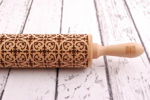 ARABESQUE - nature inspired embossing rolling pin