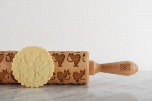 SINGAPURA  -  embossing rolling pin, for fans of this original cat breed