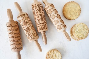 FOR WINTER SEASON - set of 4 MINI embossing rolling pins, best collection
