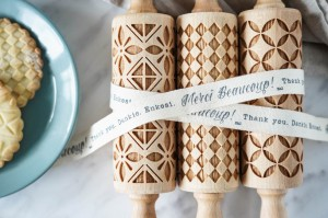 GEOMETRIC - set of 3 MINI embossing rolling pins, simple but classy