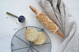 ALHAMBRA - MINI embossing rolling pin, Spanish arabesque design
