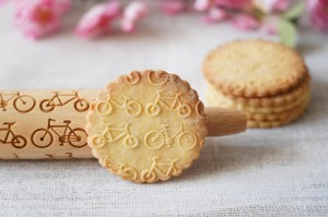 BICYCLES  - MINI embossing rolling pin, for cycling geek