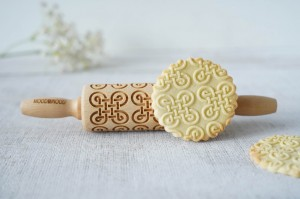 CELTIC KNOT - MINI embossing rolling pin, tattoo-like geometry