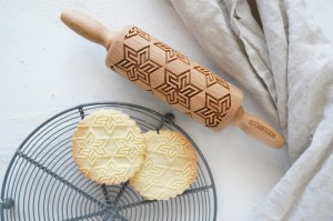 GEOMETRIC STAR - MINI embossing rolling pin