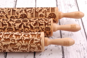 ANIMALS -  set of embossing rolling pisn
