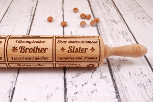 FAMILY - embossing rolling pin for cookies, perfect Family gift