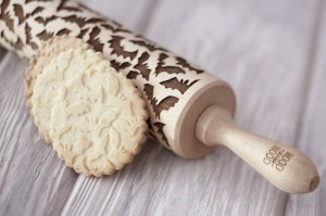 SCARY BATS - embossing rolling pin
