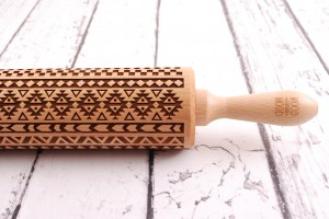 AZTEC - embossing rolling pin for cookies, ethnic inspiration