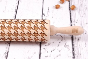 HOUNDSTOOTH CHECK - embossing rolling pin